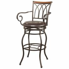 """102575 Dining Chairs and Bar Stools 29"""" Decorative Metal Barstool"""