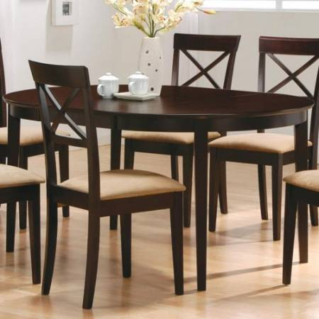 100770 Mix & Match Oval Dining Leg Table