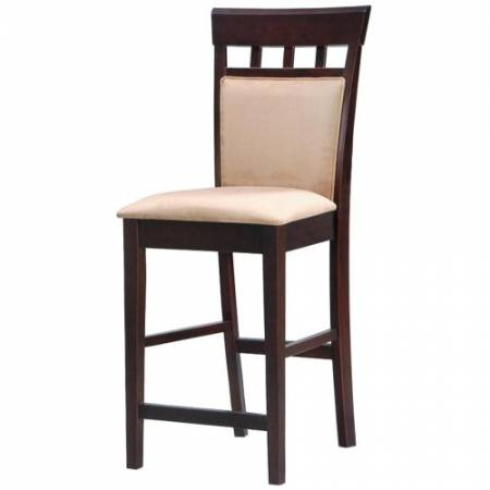 """100219 Mix & Match 24"""" Upholstered Panel Back Bar Stool with Fabric Seat"""
