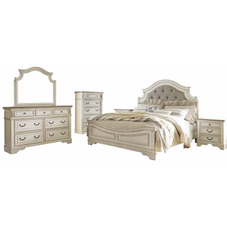 B743 Realyn 4PC SETS Queen UPH Panel Bed