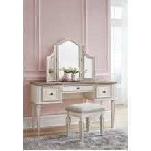 B743 Realyn Vanity/Mirror/Stool (3/CN)