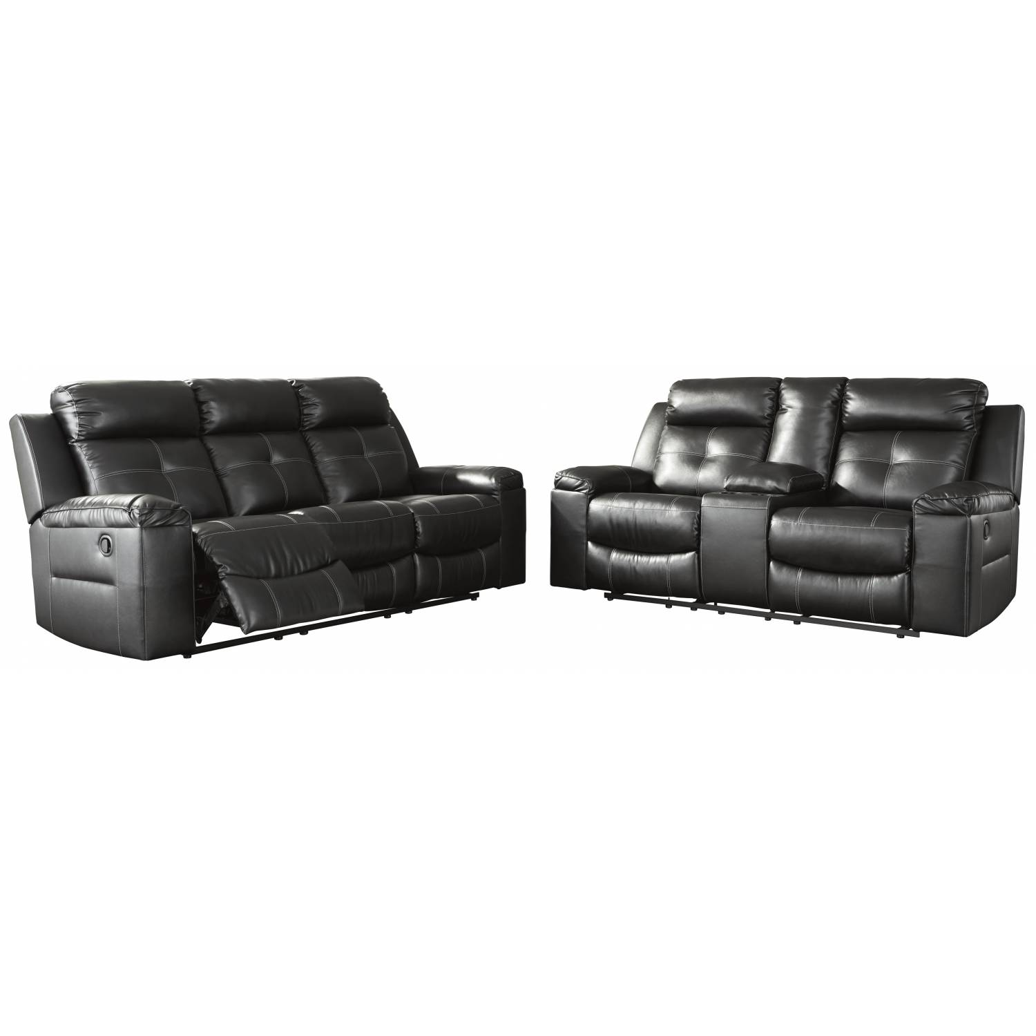 82105 Kempten 2pc sets Reclining Sofa + DBL Rec Loveseat w/Console