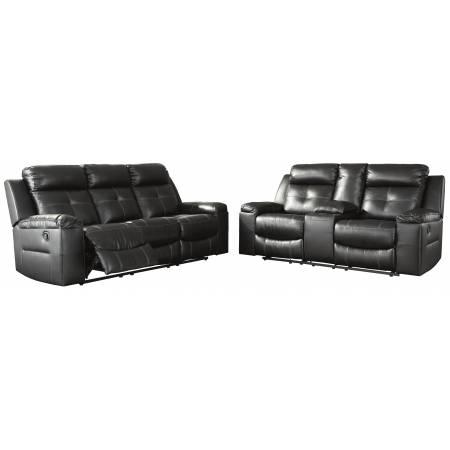 82105 Kempten 2pc sets Reclining Sofa + DBL Rec Loveseat w/Console