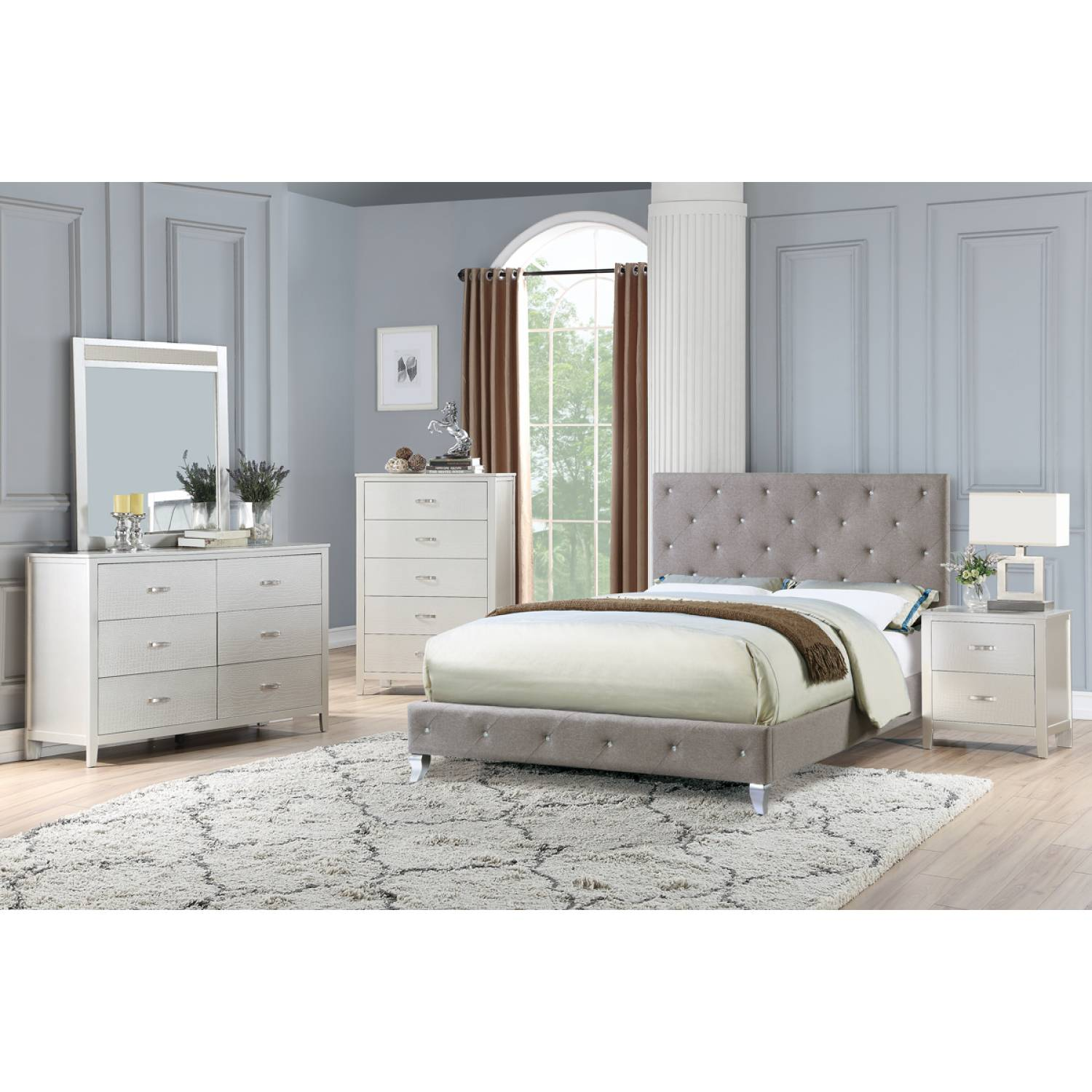 F9418q 5pc Sets Queen Bed