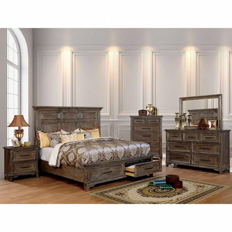 Oberon Cal King Bedroom Set Cm7845kw Gr