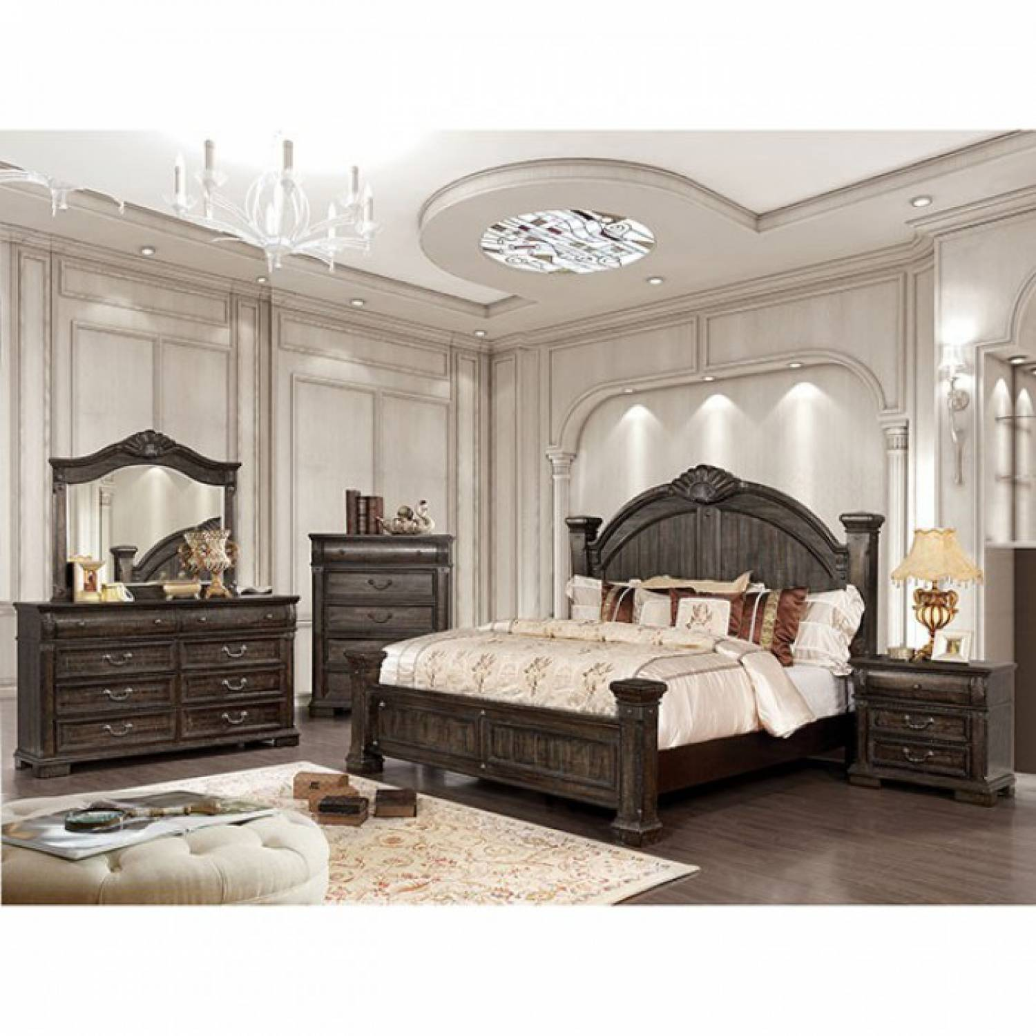 Genevieve Cal King Bedroom Set Cm7428kw Gr