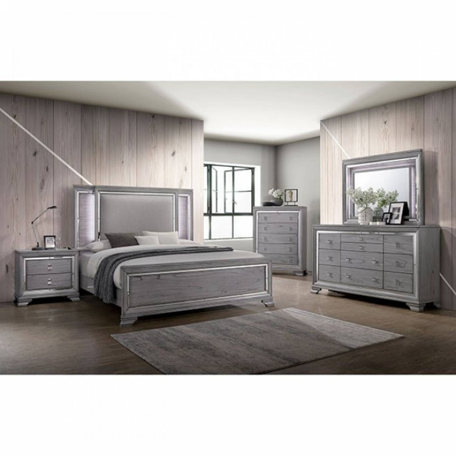 Alanis Cal King Bedroom Set Cm7579kw Gr
