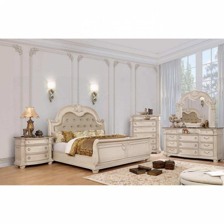 Image of: Ammanford Cal King Bedroom Set Cm7560kw Gr