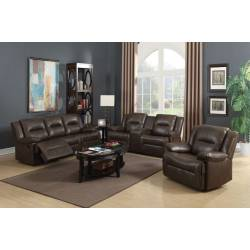 52815+52816+52817 3PC SETS SOFA + LOVESEAT  + GLIDER RECLINER