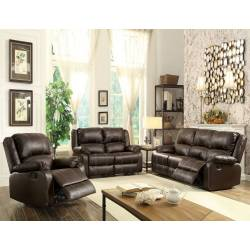 52280+52281+52282 BROWN 3PC SETS MOTION SOFA + LOVESEAT + RECLINER