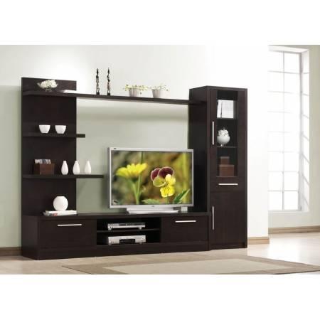 02475+02474+02476 TV STAND W/2 DOORS + TV CABINET W/2DOORS , DRAWER + WALL SHELF