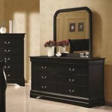Louis Philippe 6 Drawer Dresser and Vertical Mirror Combination 203963+203964