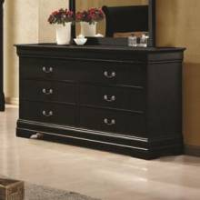 Louis Philippe 6 Drawer Transitional Dresser 203963