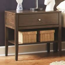 Lompoc 1 Drawer Nightstand with USB Charging Cables 204562