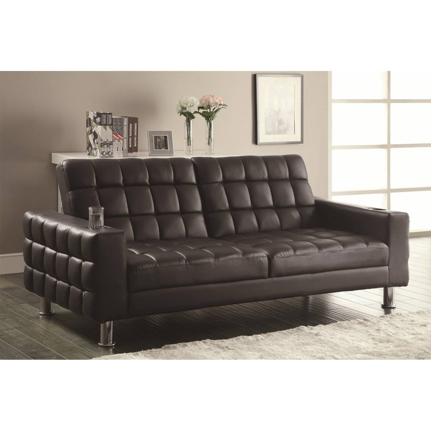 Sofa Bed With Cup Holders 300294