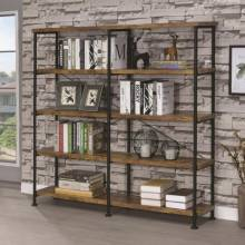 Barritt Large Wood and Metal Open Bookcase