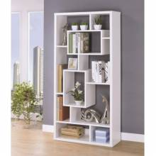 Bookcases Asymmetrical Cube Book Case with Shelves