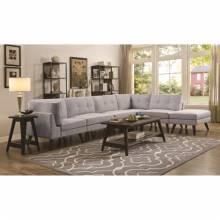 Churchill Mid-Century Modern 4 Seat Sectional with Button Tufted Cushions