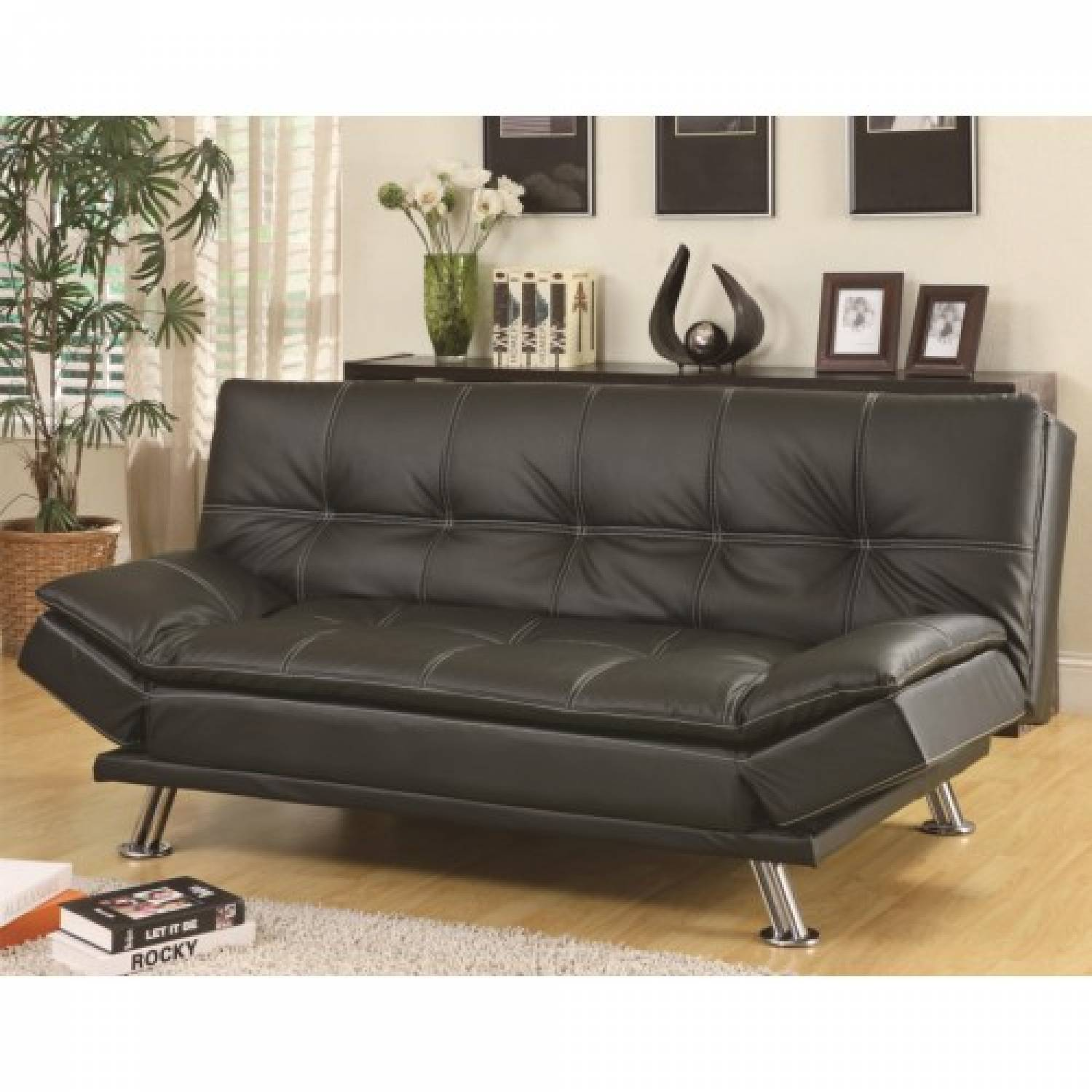 300281 Sofa Beds and Futons Contemporary Styled Futon Sleeper Sofa Bed