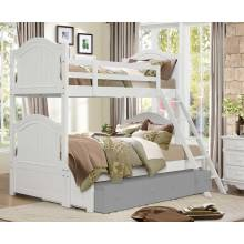 Clementine Twin/Full Bunk Bed - White B1799-F