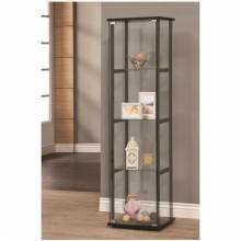 Curio Cabinets 4 Shelf Contemporary Glass Curio Cabinet 950171