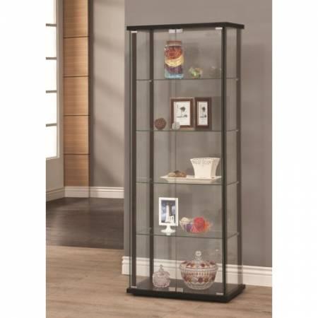 Curio Cabinets 5 Shelf Contemporary Glass Curio Cabinet 950170