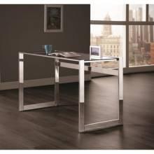 Contemporary Computer Desk with Chrome Legs 800746
