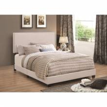 Upholstered Beds Upholstered Queen Bed with Nailhead Trim 350051Q