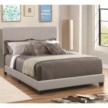 Dorian Grey Leatherette Upholstered Twin Bed 300763T