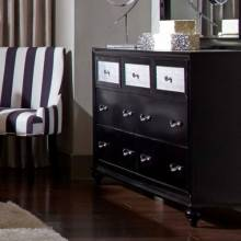 Barzini 7 Drawer Dresser with Metallic Acrylic Drawer Fronts 200893