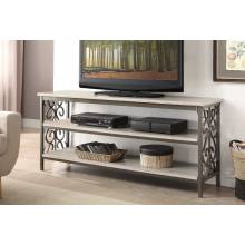 Fairhope 62-inch TV Stand/Sofa Table with Faux Marble Top 35800-S