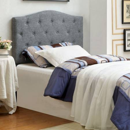 ALIPAZ HEADBOARD GRAY Queen Beds CM7989GY-HB-FQ