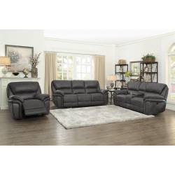 9903GY Hadden 3PC SET: SOFA, LOVE, CHAIR
