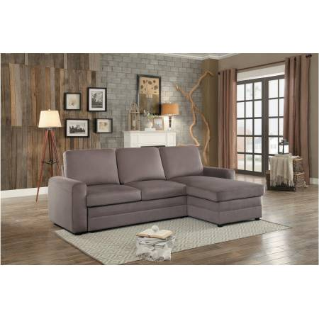 8211 Welty Reversible Sectional with Pull-out Bed and Hidden Storage