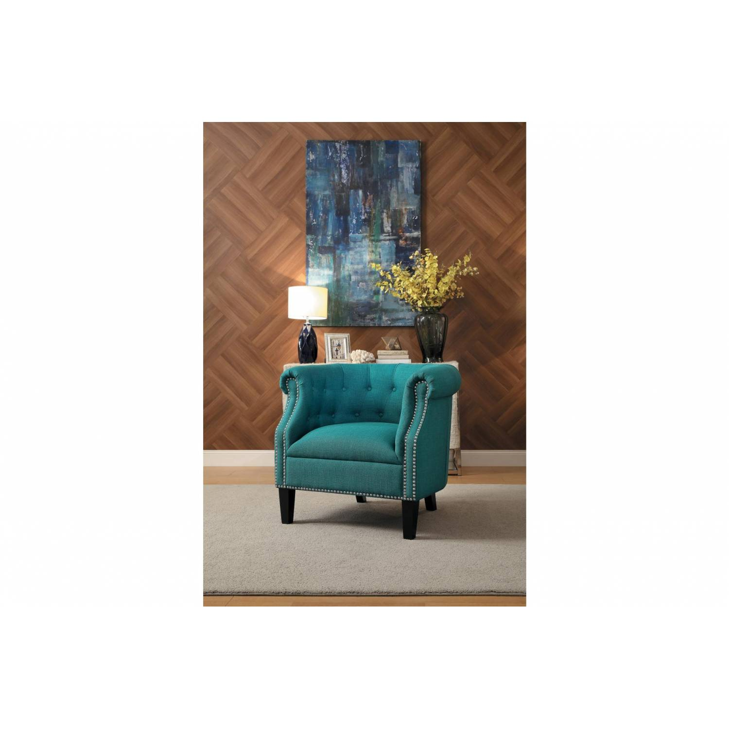 1220f3s Karlock Accent Chair Teal