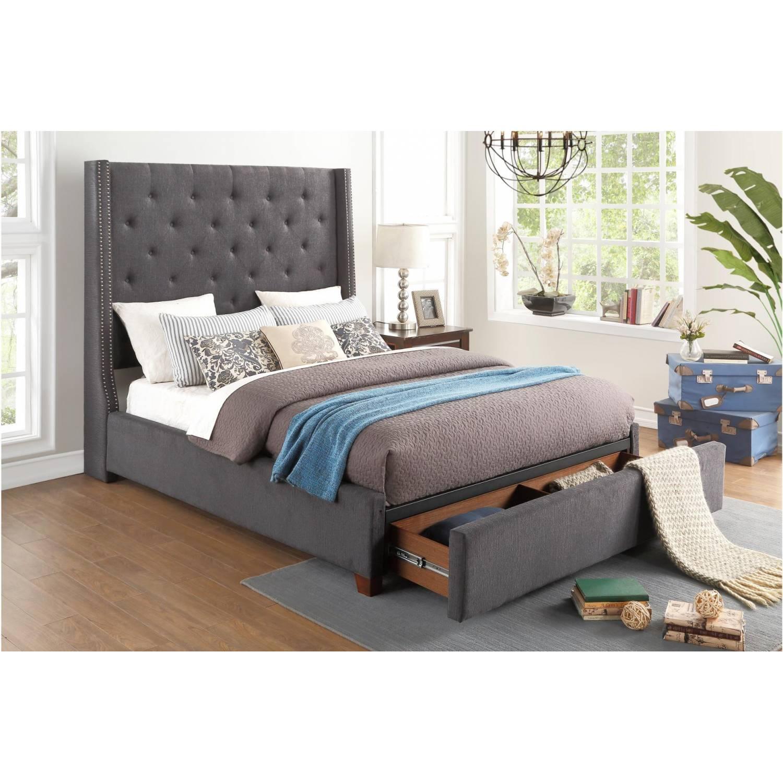 5877gy Fairborn Queen Platform Bed With Storage Footboard