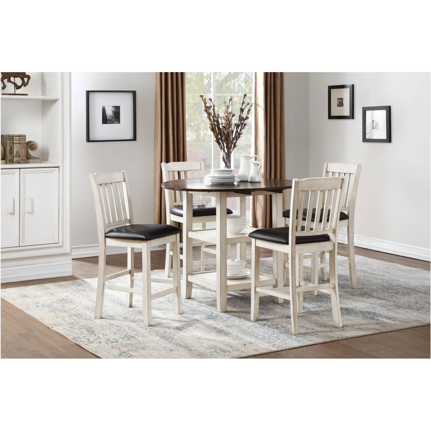 Kiwi 5pc Sets Counter Height Drop Leaf Table 4 Counter Height