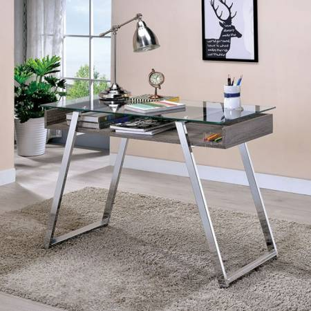 BALLYBAY WRITING DESK Chrome
