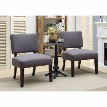 ARVID ACCENT TABLE & CHAIR SET Gray finish