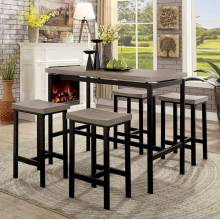 VILVOORDE 5 PC. COUNTER HT. TABLE SET Natural Tone, Black