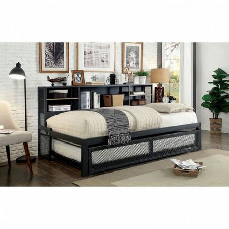 DEBRA DAYBED W/ TRUNDLE Gray finish