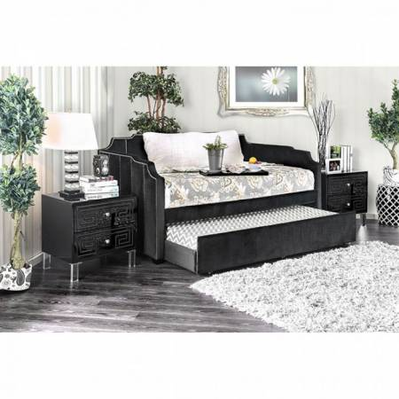 ESPERANZA TWIN SIZE DAYBED TRUNDLE Black finish