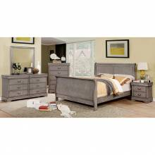 EUGENIA 4PC SETS CAL.KING BED Gray finish