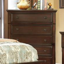 CASTOR CHEST Brown cherry finish