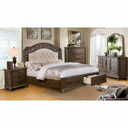 PERSEPHONE 4PC SETS CAL.KING BED Rustic Natural Tone Finish.