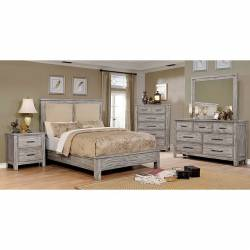 CANOPUS 4PC SETS CAL.KING BED Antique Gray finish
