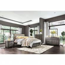 BERENICE 4PC SETS CAL.KING BED Gray