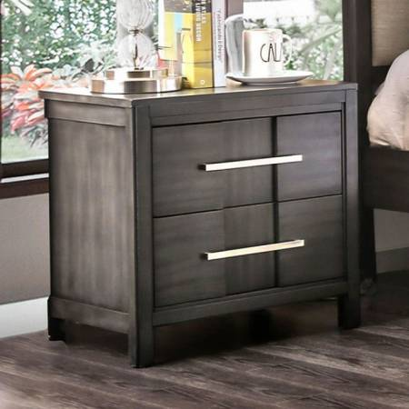 BERENICE NIGHT STAND Gray