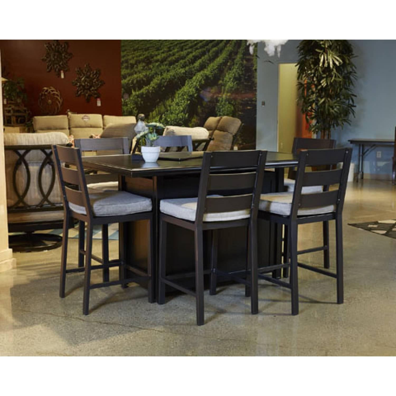 Perrymount 7PC SETS Rectangular Bar Table Barstool with Cushion 6 CN