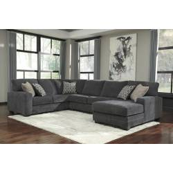 72600 Tracling Sectionals (LAF Sofa + Armless Loveseat + RAF Corner Chaise)